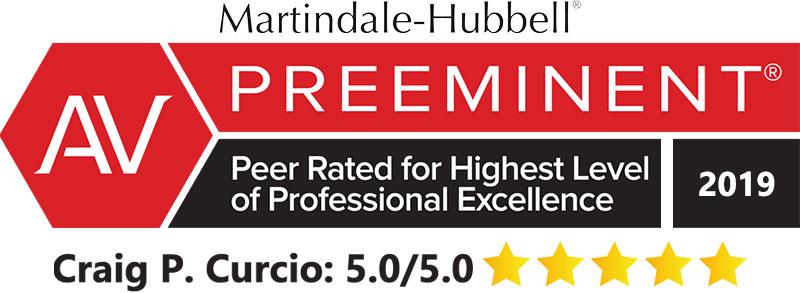 Martindale Hubbell AV Rated 5.0/5.0 2019